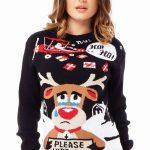 Hässliche Weihnachtspullover können ein Outfit ruinieren